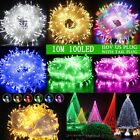 100 1000LED Christmas Fairy String Lights Outdoor Indoor Xmas Party Lamps Decor