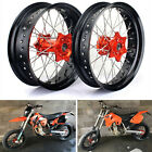 Supermoto 17'' KTM Complete Wheels Set for KTM EXC SX-F 125 250 300 450 525 530