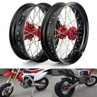 17'' Supermoto Wheels Set for Honda CRF250R CRF450R CRF450X CRF250X CR 125 RED