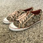 Women Coach Leatherware Barrett logo graphic casual sneakers shoes 75M