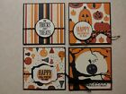Stampin Up HALLOWEEN CARDS Trick Or Treat Happy Halloween 3x3 Super Cute