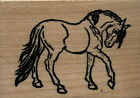 mounted rubber stamps Show Horse small wood mount 1 3 4 X 2 1 2
