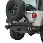 Fits 87 06 Jeep Wrangler YJ TJ Rear Bumper with Tire Carrier Swing Rock Crawler