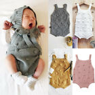 Newborn Infant Baby Boy Girl Romper Jumpsuit Knitted Clothes One Piece Outfit US