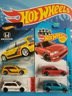 Hot Wheels 1990 Honda Civic EF Red Teal White  Walmart Series 4 lot NEW 2014