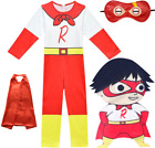 Ryans World Halloween Costume Kids Ryan Jumpsuits+Mask+Cape Suits Fancy Outfits
