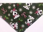Dog Bandana OVER THE COLLARclothes pet Size MLXL Christmas Pups Green