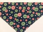 Dog Bandana OVER THE COLLARclothes pet Size SML XL Christmas Peppermint