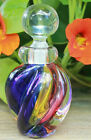 ARCHIMEDE SEGUSO labelled  etched signature CARNIVAL MURANO PERFUME BOTTLE
