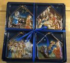 4 Miniature Nativity Plates New In Box Unopened CINAMP MWW Free Shipping