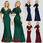 US Ever-Pretty Vintage V-Neck Long Evening Prom Dresses Cocktail Homecoming Gown