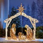 3 Piece Lighted Nativity Scene Set Outdoor Christmas Yard Art Holiday Display