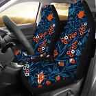 Trendy Rose Floal Car Seat Covers For Women Girls Front Seat Protector Set Of 2