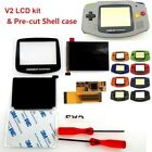 V2 IPS Backlight Backlit LCD For Game Boy Advance GBA and Pre cut Shell Case