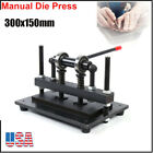 300X150mm Manual Leather Cutting Machine  Die Cut Leather Embossing Machines