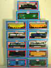 MODEL POWER HO ROLLING STOCK LOT OF 12 IN BOXES TANK,BOX,CATTLE,HOPPER,REEFER