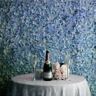 4 Serenity Blue Hydrangea Flowers Mat Wall Backdrop Panels Wedding Decorations