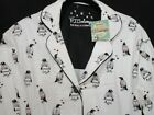 PJ SALVAGE 100 COTTON FLANNEL PJ SET HOLIDAY PENGUIN WINTER WHITE NWT SIZE S