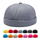 Brimless Hat for Men Women Fitted Cotton Bonnet Skullcap Sailor Beanie Cap Solid