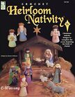 Heirloom Nativity Scene Stable Figures Animals crochet pattern booklet NEW rare