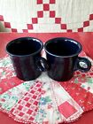 Lot of 2 Fiesta Ware Cobalt Tom & Jerry Mugs Cups Ring Handle Vintage Blue