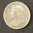 GREAT BRITAIN QUEEN VICTORIA 1893 3 PENCE THREEPENCE SILVER