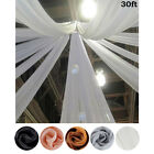 1 Panel 10 x 30 ft Premium Sheer Voile Ceiling Curtain Drapes Wedding Party SALE
