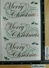 Mrs Grossman MERRY CHRISTMAS REFLECTIONS Stickers WITH HOLLY BEAUTIFUL
