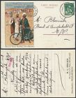 Belgium 1913 Illustrated postcard to Brussels Cycles Bercley VG VP39 MV 6652