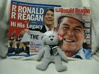 Ronald Reagan USS TY beanie & commemorative TV guide american icon/His Legacy