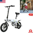 DOHIKER Folding Moped Electric Bike Collapsible Bicycle 250W W LED Headlight US