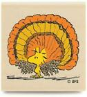 New Peanuts WOODSTOCK TURKEY Wood Rubber Stamp Thanksgiving Holidays Gobble