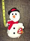 Ty Beanie Snowball Snowman 1996 & Windchill Snowman 2004 New with Tags