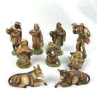 Lot of 9 Vintage Nativity Scene Figures Made In Italy Animals Baby Jesus Mary
