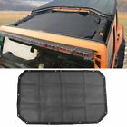 Soft Top Sun Shade Mesh Cover Shield Protect for Jeep Wrangler JK 2Door 07 17