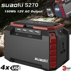 Suaoki 150Wh Portable Electric Solar Generator USB Power Bank Battery Charger UK