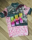 Vintage Retro SMS SANTINI Zip Neck Cycling Jersey Size M