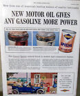 1954 Sunoco Motor Oil Magazine Print Ad From The Saturday Evening Post