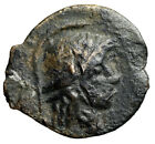 MYSTERY Ancient Greek or Roman Republican Coin Helmeted Head  ROMA CERTIFIED