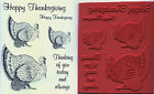 unmounted rubber stamps Thanksgiving Turkeys 6 images