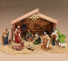burton+BURTON Wood Nativity Set with Creche 10 PC Christmas Decoration with Star