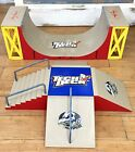 Vtg Tony Hawk Tech Deck Skatepark Vert Ramp Halfpipe 1 4 Pipe Rail Stairs