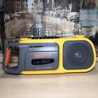 Vintage Yellow Sony CFM-104 Sports Radio Cassette Boombox Recorder RARE!