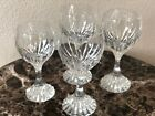 Baccarat Crystal Massena Wine Water Glasses SET of FOUR 625 Tall