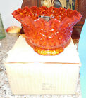 Vintage NOS LE Smith Amberina Heritage Glass  Candy Dish Bowl MiB