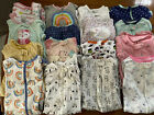 Lot of 16 Baby Girl Footed Sleepers 6 9 Months Cat  Jack Carters Just One You
