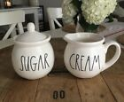 Rae Dunn Sugar  Cream Sugar Bowl and Creamer Set Combo HTF Brand New