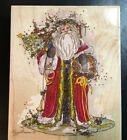 Olde English Santa Large Rubber Stamp NEW Peggy Abrams Stamps Happen