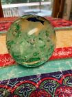 Murano Paperweight with Blue Fish  Ocean Trees