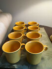 Set of 8 Fiesta Ring Handle Mugs 10 oz. in Marigold (retired) - New condition